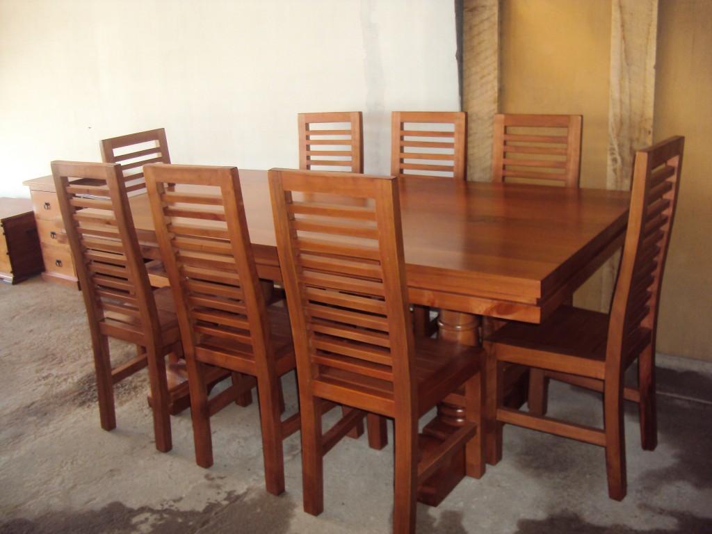 Comedor 8 personas Modelo 4 piñas | Artesanía en muebles CarlosRivera